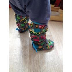 Softshellové dlouhé botičky